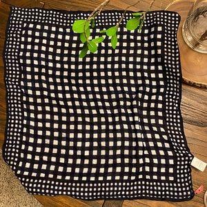NWT Check Print Square Neck Scarf Neck Tie